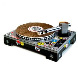 DJ Cat Scratching Deck