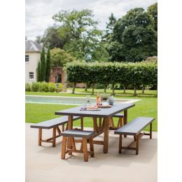 Chilsom Large Table and Bench Set