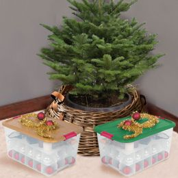 Iris Plastic Christmas Storage Boxes with Compartments