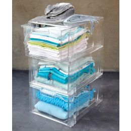 Acrylic Stackable Storage Drawers Clear | UK Exclusive @ The Holding Company.