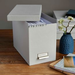 Filing Box with 8 Hanging Files | Bigso
