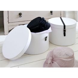 Hat Boxes with Leather Strap - Set of 2 | Bigso