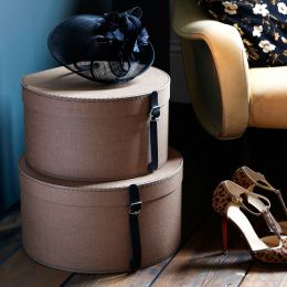 Canvas Hat Box Mathilde | Bigso