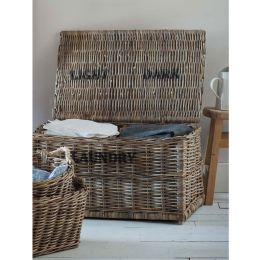 Rattan Double Laundry Hamper