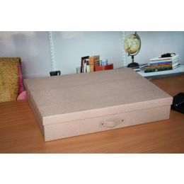 A3 Document Box with Beige and Brown Oak Design