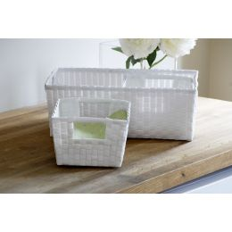 Woven Plastic Strapping Basket | @ The Holding Company