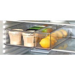 InterDesign | Open Stackable Fridge Storage Bin Clear