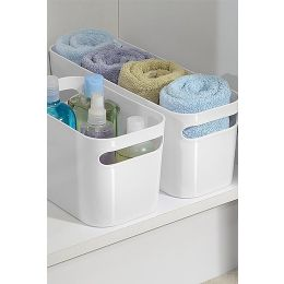 InterDesign | Plastic Una Storage Bin With Cut Out Handles