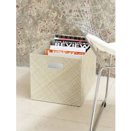 Woven Open Box With Cut Out Handles Natural | @ The Holding Company