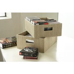 Mendong Grass Open Storage Box Natural| @ The Holding Company