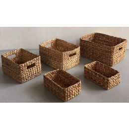 Combe Water Hyacinth Rectangular Basket