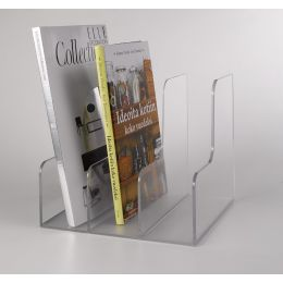 Clear Acrylic Magazine Rack | 3 Sections | Palaset