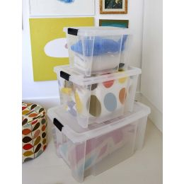 Clip On Lid Plastic Storage Box