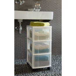 Semi Clear Storage Drawers on Wheels