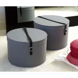 Hat Box with Leather Strap | Bigso