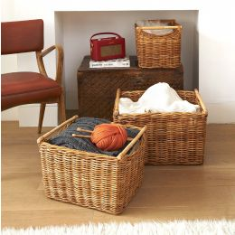 Rattan Basket with Cane Handles| @ The Holding Company