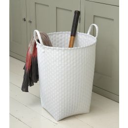 Round White Laundry Basket