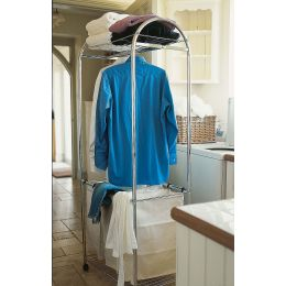 Triple Laundry Sorter on Wheels with Hanging Rack