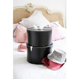 Black Hat Boxes - Set of 2 | Bigso
