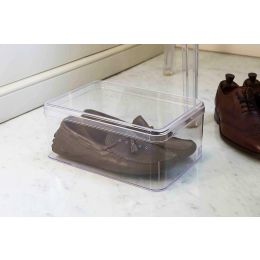 clear plastic shoe boxes men