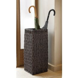 Wicker Square Umbrella Basket Brown Gebang