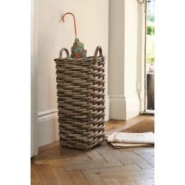 Rattan Square Umbrella Stand Grey