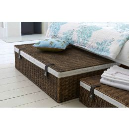 Underbed Storage: Lined Rattan Basket| @ The Holding Company