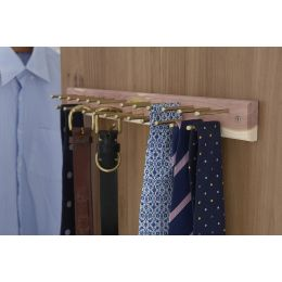 Woodlore 24-peg Cedar Tie Rack Strip | Woodlore