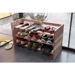 Stackable Wooden Shoe Rack
