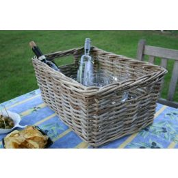 Windsor Grey Rattan Storage Baskets