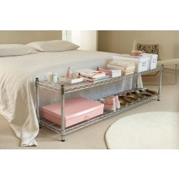 Chrome end of bed unit