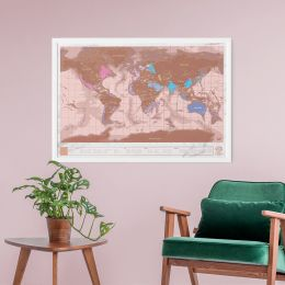 Scratch Map - Rose Gold No Pos