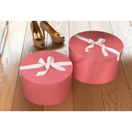 Hat Boxes Set of 2 Pink | Bigso