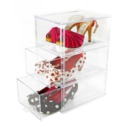 Clear Sliding Shoe Storage Drawers