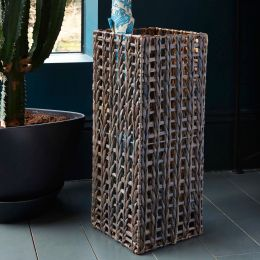 Wicker Umbrella Stand Water Hyacinth