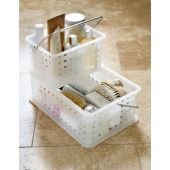 InterDesign Plastic Stackable Basket