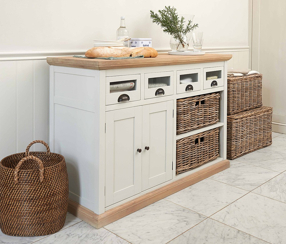 Southwold Storage Unit 4-Drawer 2-Basket | TOBS - The Holding Company