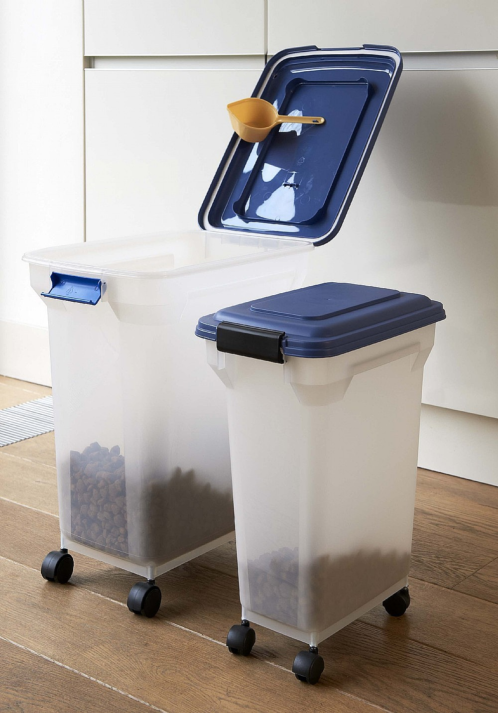 Pet Food Storage Box on Wheels with Scoop The Holding Company