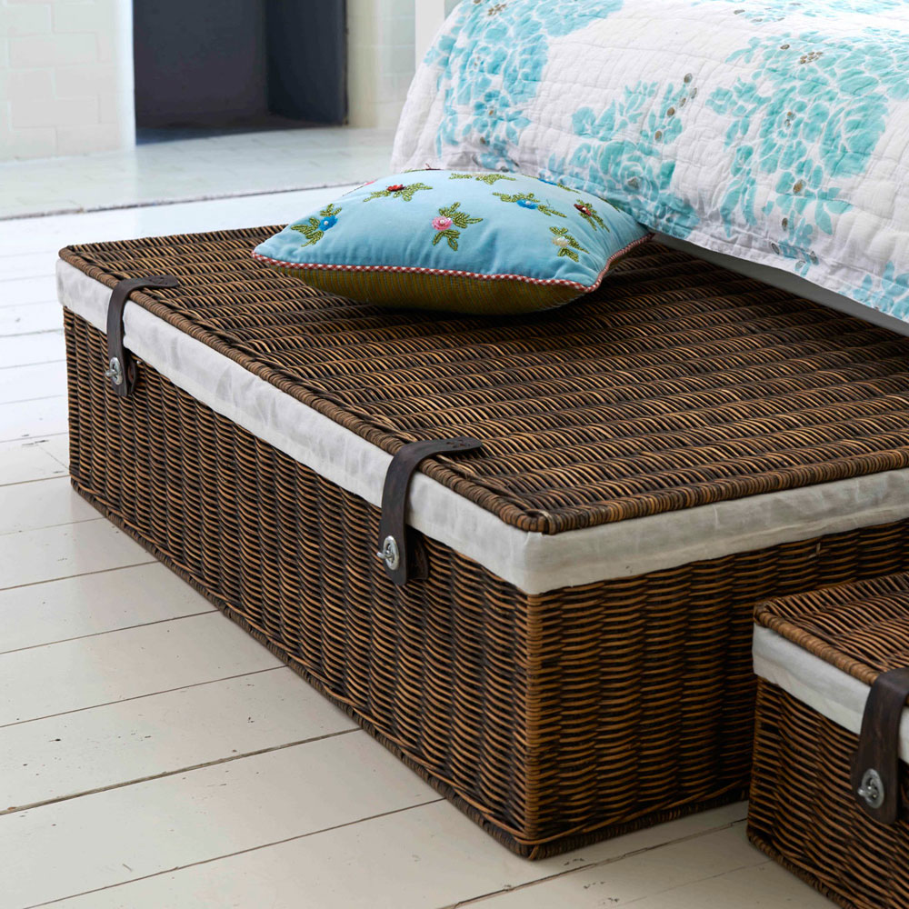 Marlow Underbed Storage: Lined Rattan Basket| @ The Holding Company   The  Holding Company