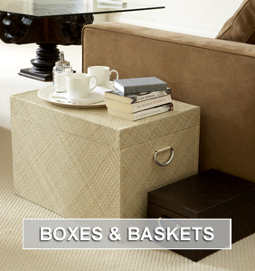 Boxes and Baskets for Home Storage and Organisation