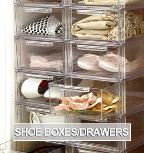 Shoe Storage Boxes and Shoe Drawers