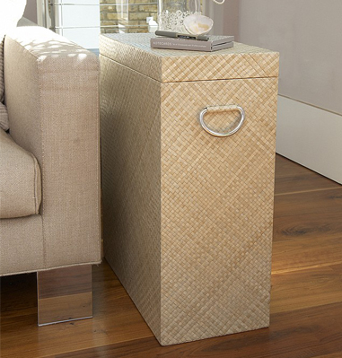 Woven Storage Side Table