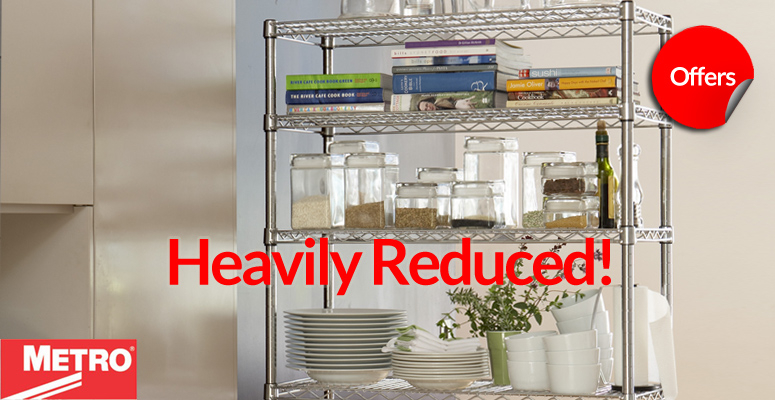 Metro Chrome Racking Sale - heavily Reduced and Best Online Prices