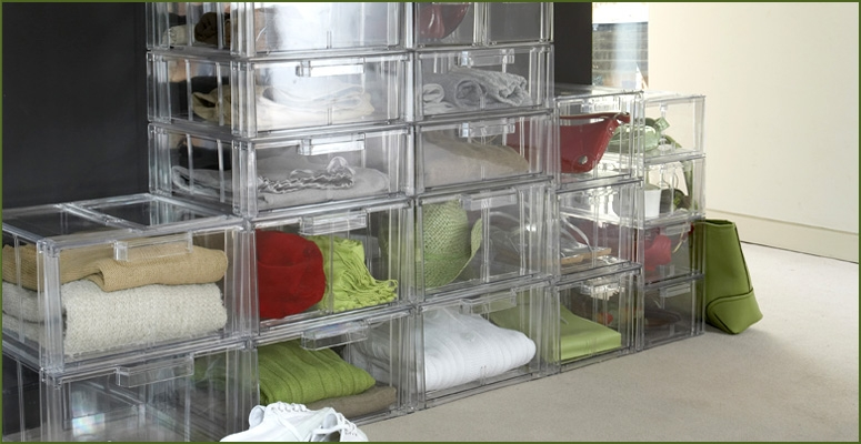 Stackable Drawers and Bins fro Clothes Storage
