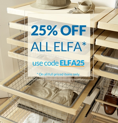 Elfa Shelving Systems now on Offer