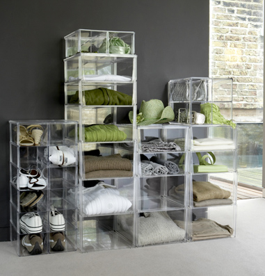 Stackable Drawers and Bins for Clothes Shoe Storage